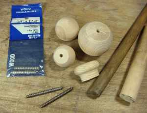 What you'll need to make wooden dapping punches.