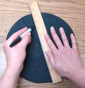 Sharper cone = wider wedge