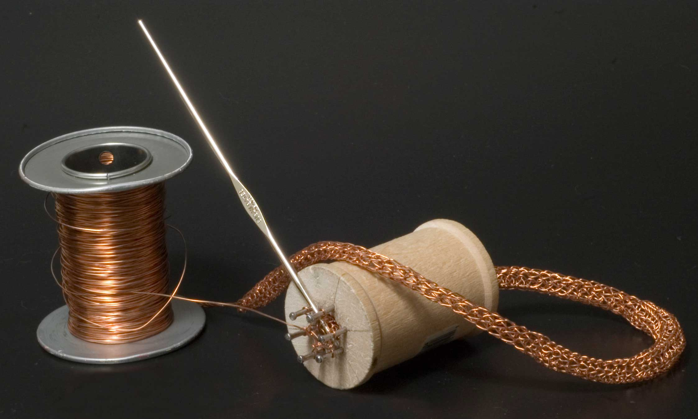 Spool Knitting With Wire : Make a wire knitting spool shoebox studio jewelry