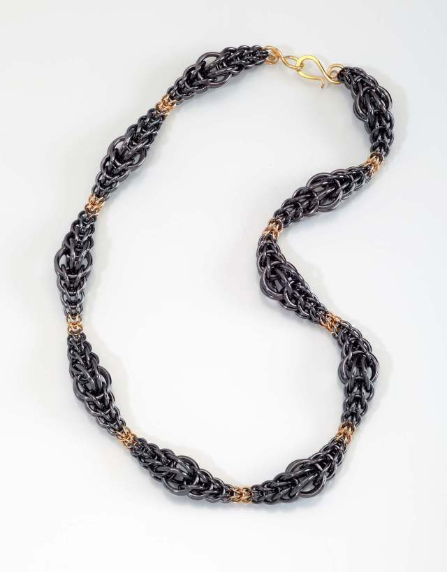 Persian GOLD Wave Necklace