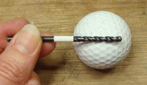You can also mark the drill bit with permanent marker.