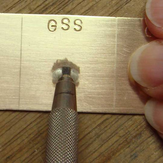 Gesswein NSS Ceramic Stone 2mm wide. The lead holder makes this polishing much easier.