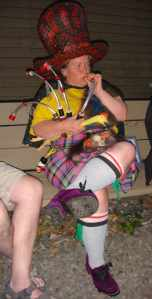 A virtuoso on the rubber chicken pipes.